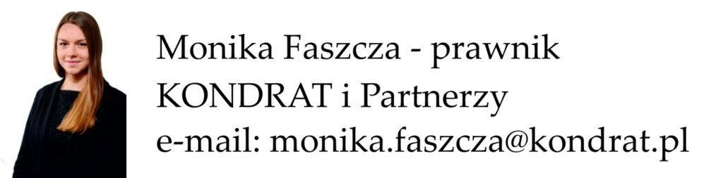 Monika Faszcza - Kancelaria KONDRAT i Partnerzy